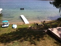 VRBO.com #481754 - Sandy Frontage, Nice Pontoon Boat Available, Silver Lake in Traverse City