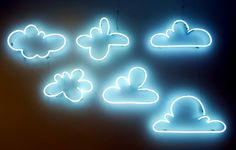 'Clouded' neon, 2011 by artist Alexandre Paiva