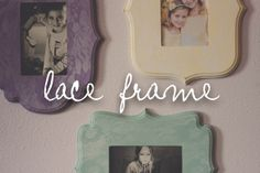lace frame tutorial //DIY vintage style frames // the Dempster logbook