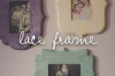 lace frame tutorial //DIY vintage style frames // the Dempster logbook