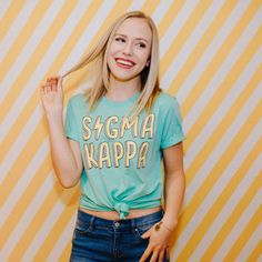 Radical Tee / available for multiple organizations! / greek gifts tshirt / greek sorority t shirts Sigma Kappa Shirts, Fraternity Shirts, Sorority And Fraternity, Sorority Rush, Sorority Life, Cheer Shirts, Camp Shirts, Greek Gifts, Sorority Outfits