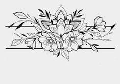 Flower Sketches, Band Tattoo, Desenho Tattoo, Mehndi, Sleeve Tattoos, Tattoos For Women, Costa, Tatting, Piercings