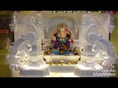 Green and Eco-Friendly Decorating Ideas for the Holidays Eco Friendly Ganpati Decoration, Ganpati Decoration At Home, Ganpati Decoration Ideas Thermocol, Festival Decorations, Wedding Decorations, Thermocol Craft, Ganesh Chaturthi Decoration, Temple Design For Home, Ganapati Decoration