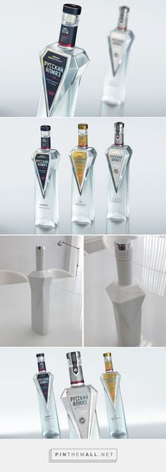 Russian Diamond Vodka packaging designed by StudioIN - http://www.packagingoftheworld.com/2015/10/russian-diamond-vodka.html