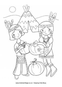 Thanksgiving Colouring Page 4