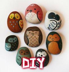 DIY | Pintura em pedras por Gabi !