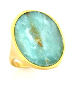 Monique Pean Peruvian Opal Oval Ring