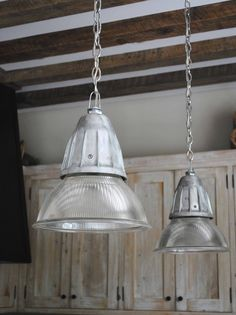 Kitchen industrial pendants from Tone on Tone