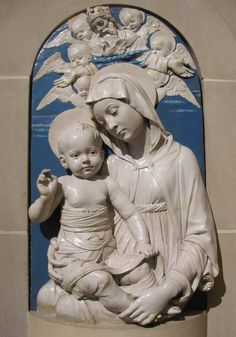 Della Robbia    Madonna and Child, ca 1470.  By rocor