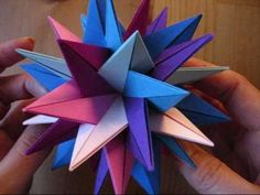 How to make an Origami TUVWXYZ Star (3D Stern)