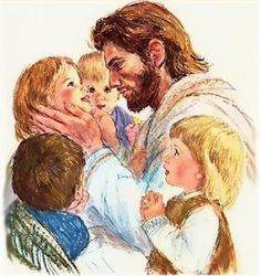 This was a print my mom had.  I looked just like the little girl next to Jesus.  I now have this framed in my house.