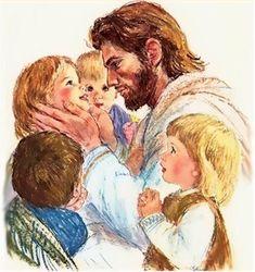 Jesus and the children.
