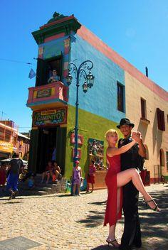 Tango Dancers at La Boca  La Boca, Buenos Aires, Argentina