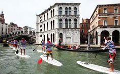 Forget the Gondola...paddleboarding looks like it's the way to go in Venice.