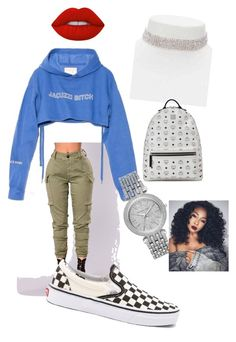 """""""Blue bird"""" by ashiamonee on Polyvore featuring Vans, Jacuzzi, Michael Kors, Forever 21, MCM and Lime Crime"""