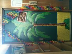 Classroom  Beach Theme Ideas. Students can bring pictures in for the teacher to put up.