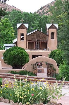 "El Santuario de Chimayo, New Mexico is a Roman Catholic church and has been called ""no doubt the most important Catholic pilgrimage center in the United States."" It is a National Historic Landmark. by Andrea Stawitcke"