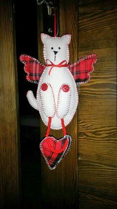 dekorace z filcu - kočka