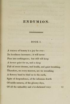 endymion book I // keats