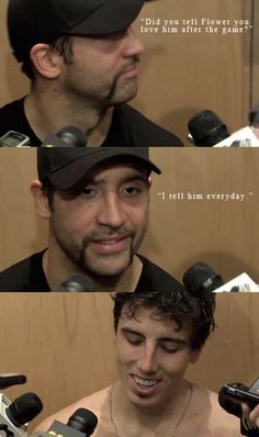 Best NHL bromance ever. <3  To bad he was a back stabber and went to Philly