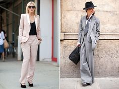 Suits on the brain part 2. I love the gray one! Very Annie Hall-esque.