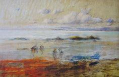 Eliseo Meifrén Roig. Marina. Dibujo al pastel sobre papel. Firmado. 37 x 58 cm. Ausa, p. 382.