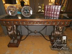Dual Griffin designed, marble top console table with all the details. Measures 62*23*34. Arrived: Thursday January 12th, 2017