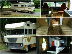 The vintage Winnie sports new LED lighting, refurbished upholstery, updated window treatments and new city water plumbing. Credit: Toutle River RV Resort