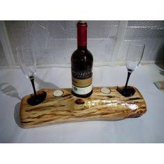 Подставка для бутылки вина с фужерами