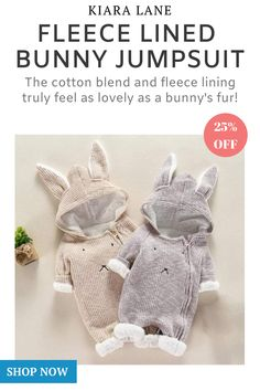 Treat Your Little Bun To The Warmest, Most Comfortable Jumpsuit Ever! 🐰❤️️ 25% Off Here ▶️ kiaralane.com/products/bunny-jumpsuit