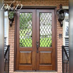 Ideas For Leaded Glass Front Door Entryway Front Door Entryway, Wood Entry Doors, Entrance Doors, Wooden Doors, Front Entry, Entrance Ideas, Barn Doors, Entry Doors With Glass, Glass Front Door