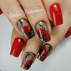 The problem is so many nail art and manicure designs that you'll find online Sexy Nails, Hot Nails, Fancy Nails, Pretty Nails, Hair And Nails, Flower Nail Art, Nail Swag, Nagel Gel, Fabulous Nails