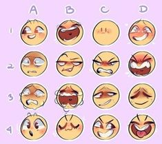 Drawing Meme, Drawing Prompt, Anatomy Drawing, Drawing Challenge, Art Challenge, Expression Challenge, Emoji Challenge, Drawing Reference Poses, Drawing Tips