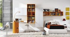 LINK SYSTEM Lacquered bookcase by Zalf