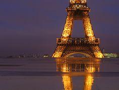 Floating Eiffel Tower I
