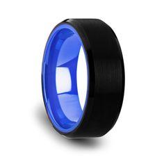 300 RIGEL Black Tungsten Comfort Fit Wedding Band Rings Paradise Ringsparadise