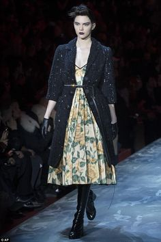 Hater gonna hate: Kendall Jenner  confidently walked in the Marc Jacobs show during New York Fashion Week on Thursday