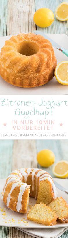 Dieses einfache Rezept für Zitronenkuchen mit Joghurt und Öl ist in nur 10 Minuten vorbereitet. Der Joghurt Gugelhupf ganz einfach und damit ein tolles Backrezept für Anfänger.