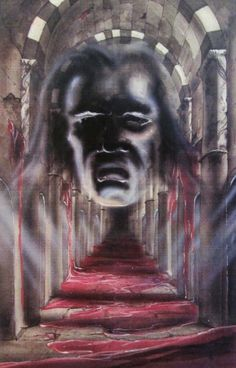 Concept art of the painting of Vigo the Carpathian from Ghostbusters II