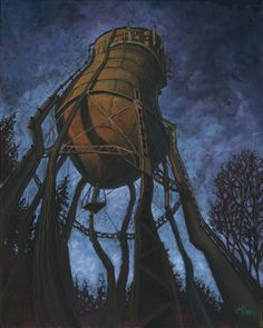 """Prescott Water Tower"" in Portland, OR by Micah Krock. prints available."