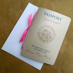 Passport Wedding Invitation by sydneystamos on Etsy, $8.50