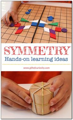 Hands-on symmetry activities for kids | Symmetry lessons using hands-on materials || Gift of Curiosity