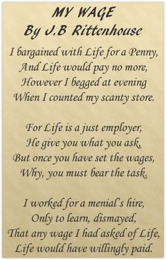 Great poem to get inspired for making more money!