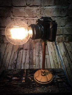 Nice Vintage Ricoh SLR Camera Lamp Amazing Ideas