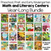 MEGA BUNDLE Math and Literacy Centers for the Year Preschool and PreK 23 Packs