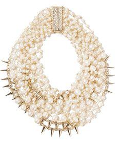 Rosantica Contrasti Gold-Tone Pearl Necklace