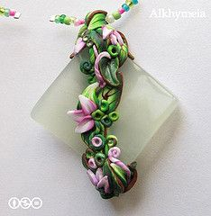 Babilonia Rosa, a polymer clay creation -- I just bought some tiles that something like this would look fab on !