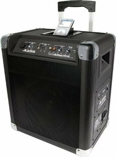 Alesis Transactive Mobile Roller PA With iPod Dock Black Black by Alesis. $199.00. The Alesis TransActive Mobile is a great PA system for outdoor parties, mobile musicians, business meetings and sporting events. It's a high-output powered mountable 2-way speaker system, with a built-in rechargeable battery with level indicator that lasts over 12 hours. A built-in retractable handle and flight-case style roller wheels allow this PA to travel with you wherever you g...