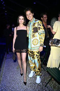 Zoey Deutch, Elizabeth Hurley, Niall Horan, Front Row, Fendi, Versace, Milan, Sequin Skirt, Cool Outfits
