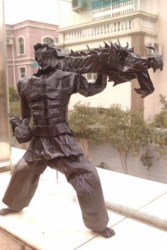 Incredible Origami Models from Chinese Culture and Mythology Origami Artist, Chinese Mythology, Origami Models, Paper Crafts Origami, Chinese Culture, Kung Fu, Prehistoric, Sculptures, The Incredibles